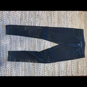 Carmar waxed skinny jeans. Mid rise